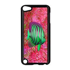 Fish Apple Ipod Touch 5 Case (black) by icarusismartdesigns