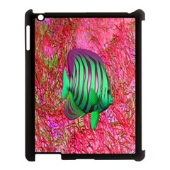 Fish Apple Ipad 3/4 Case (black) by icarusismartdesigns