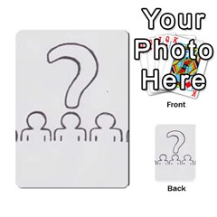 Who Starts This Mess? Card Deck By Gary H   Multi Purpose Cards (rectangle)   5s83ygdjn7wb   Www Artscow Com Back 52
