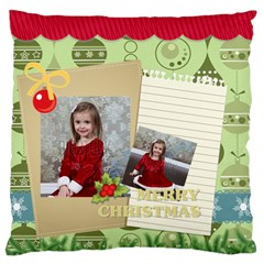 Xmas By Xmas   Large Flano Cushion Case (two Sides)   L4m05q59tez3   Www Artscow Com Front