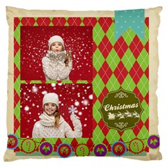 Xmas By Xmas   Large Flano Cushion Case (two Sides)   71apybzf08ve   Www Artscow Com Front