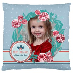 Xmas By Xmas   Large Flano Cushion Case (two Sides)   Mk3m71etzml7   Www Artscow Com Front