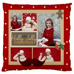 Xmas By Xmas   Large Flano Cushion Case (two Sides)   Zjmpxfdrdeoe   Www Artscow Com Front