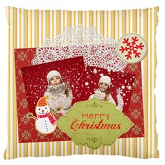 Xmas By Xmas   Large Flano Cushion Case (two Sides)   25d9lwfrsyao   Www Artscow Com Front