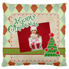 Xmas By Xmas   Large Flano Cushion Case (two Sides)   F4qcd1um8b1i   Www Artscow Com Front