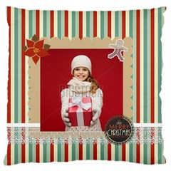 Xmas By Xmas   Large Flano Cushion Case (two Sides)   Rf3rwl9cvmgq   Www Artscow Com Front
