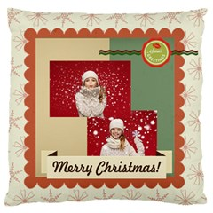 Xmas By Xmas   Large Flano Cushion Case (two Sides)   Ba3chpk5ntfe   Www Artscow Com Front