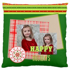 Xmas By Xmas   Large Flano Cushion Case (two Sides)   C54utnjhuo35   Www Artscow Com Back