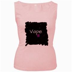 Vape Life Grunge Women s Tank Top (pink) by OCDesignss
