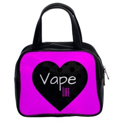Hot Pink Vape Heart Classic Handbag (two Sides) by OCDesignss