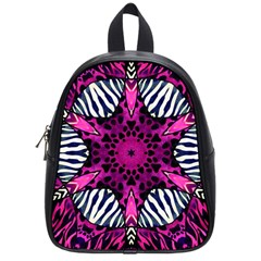 Crazy Hot Pink Zebra  School Bag (small) by OCDesignss