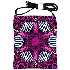 Crazy Hot Pink Zebra  Shoulder Sling Bag by OCDesignss
