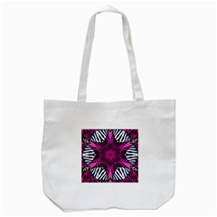 Crazy Hot Pink Zebra  Tote Bag (white) by OCDesignss