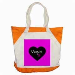 Hot Pink Vape Heart Accent Tote Bag by OCDesignss