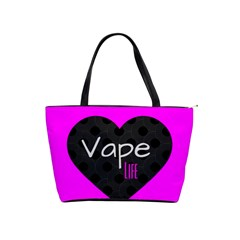 Hot Pink Vape Heart Large Shoulder Bag by OCDesignss