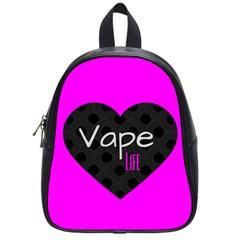 Hot Pink Vape Heart School Bag (small) by OCDesignss