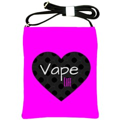 Hot Pink Vape Heart Shoulder Sling Bag by OCDesignss