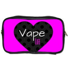 Hot Pink Vape Heart Travel Toiletry Bag (one Side) by OCDesignss