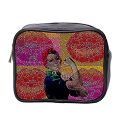 Rosie Pop Lips  Mini Travel Toiletry Bag (two Sides) by OCDesignss