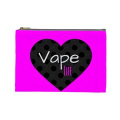Hot Pink Vape Heart Cosmetic Bag (large) by OCDesignss