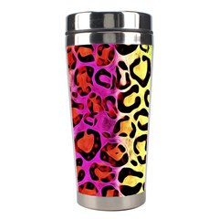 Rainbow Cheetah Abstract Stainless Steel Travel Tumbler by OCDesignss