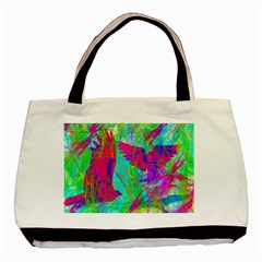 Birds In Flight Twin Sided Black Tote Bag by icarusismartdesigns
