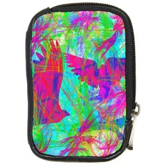Birds In Flight Compact Camera Leather Case by icarusismartdesigns