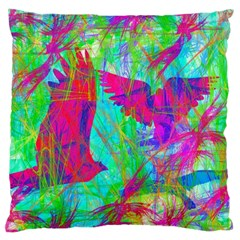 Birds In Flight Large Cushion Case (two Sided)  by icarusismartdesigns