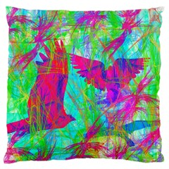 Birds In Flight Large Flano Cushion Case (two Sides) by icarusismartdesigns
