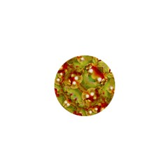 Christmas Print Motif 1  Mini Button by dflcprints