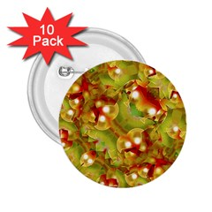 Christmas Print Motif 2.25  Button (10 pack) by dflcprints