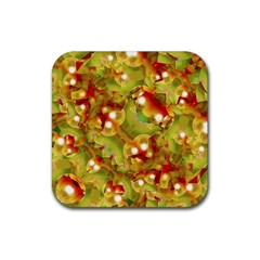 Christmas Print Motif Drink Coaster (square) by dflcprints