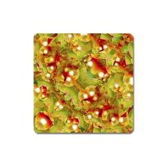 Christmas Print Motif Magnet (square) by dflcprints