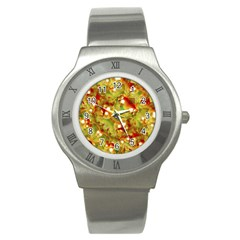 Christmas Print Motif Stainless Steel Watch (slim) by dflcprints