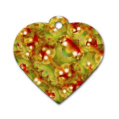 Christmas Print Motif Dog Tag Heart (one Sided)  by dflcprints