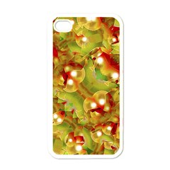 Christmas Print Motif Apple Iphone 4 Case (white) by dflcprints
