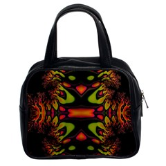 Crazy Florescent Fractal Classic Handbag (two Sides) by OCDesignss