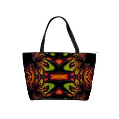 Crazy Florescent Fractal Large Shoulder Bag by OCDesignss