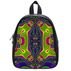 Hippie Fractal  School Bag (small) by OCDesignss