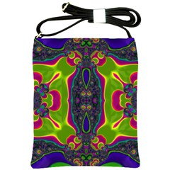 Hippie Fractal  Shoulder Sling Bag by OCDesignss