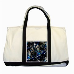 Glossy Blue Fractal  Two Toned Tote Bag by OCDesignss