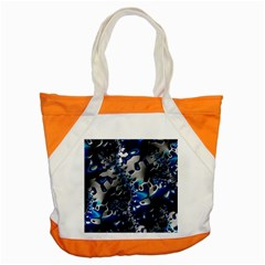Glossy Blue Fractal  Accent Tote Bag by OCDesignss
