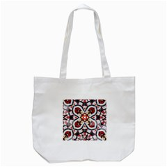 Fashion Girl Red Tote Bag (white) by OCDesignss