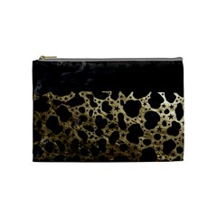Cheetah Stars Gold  Cosmetic Bag (medium) by OCDesignss