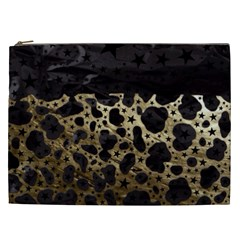 Cheetah Stars Gold  Cosmetic Bag (xxl)