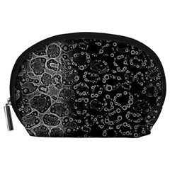 Black Cheetah Abstract Accessory Pouch (large) by OCDesignss