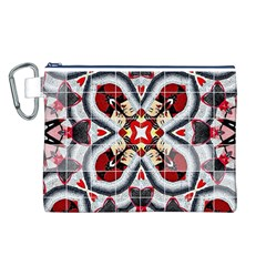 Fashion Girl Red Canvas Cosmetic Bag (large) by OCDesignss