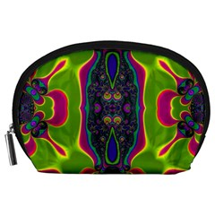 Hippie Fractal  Accessory Pouch (large) by OCDesignss