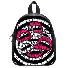 Bling Lips  School Bag (small) by OCDesignss