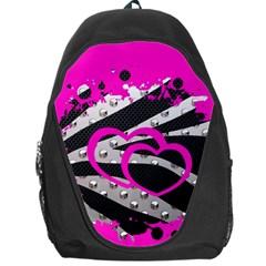 Torn Zebra Heart Backpack Bag by OCDesignss